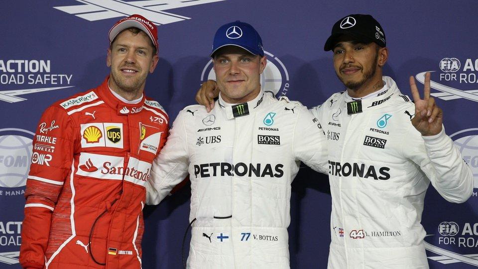 F1阿布扎比站排位赛 博塔斯夺杆梅奔包揽头排