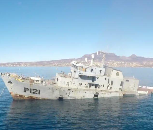 陪军舰一起葬身大海