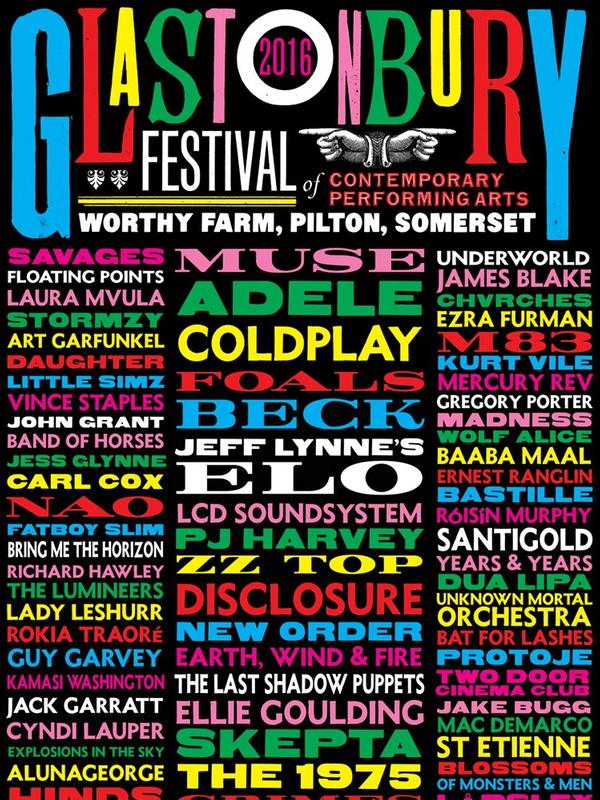 2016Glastonbury 音乐节