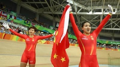 自行车第一金!女团竞速赛中国历史性夺冠