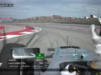 冠军!F1美国站正赛冲线:汉密尔顿延续总冠军悬念