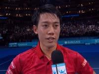 【中字】锦织圭:第三是我的目标 看到国旗飘扬很开心