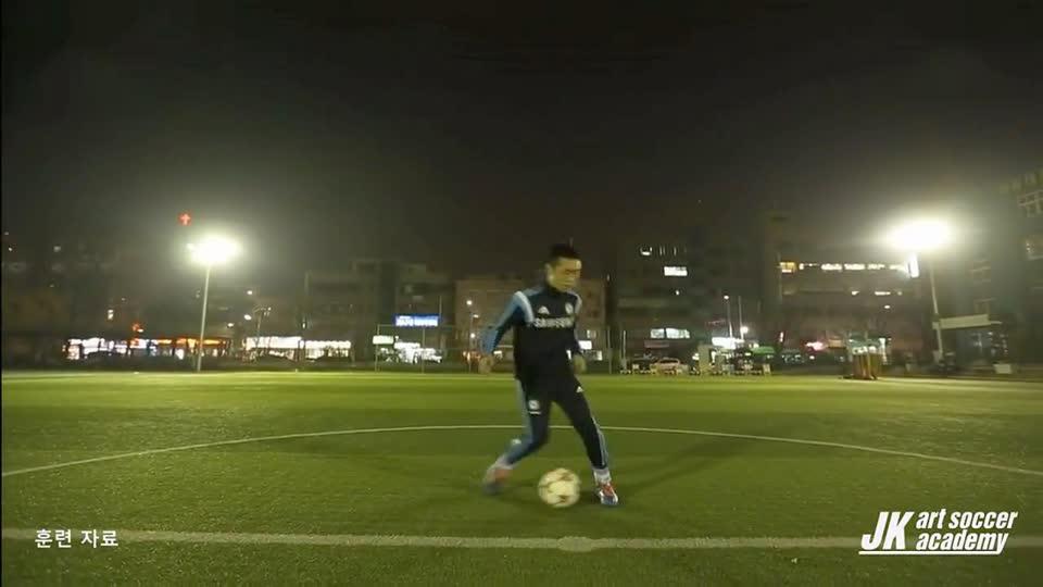 韩国足球基础教学 停球技巧练习简单易学