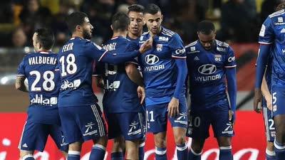 法甲-门迪染红拉卡泽特失点+制胜球 里昂3-1摩纳哥