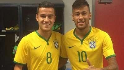 库蒂尼奥已成巴西中场大脑 内马尔:欢迎他来巴萨