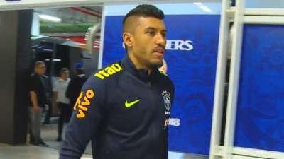 巴西队备战世预赛 众将苦练射门中超双星精气神十足