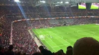 曼联攻入欧联决赛制胜球瞬间 红魔看台沸腾炸裂