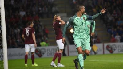 世预赛-C罗两射一传 葡萄牙3-0拉脱维亚