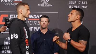 UFC格斗之夜新加坡站前瞻 选手对视
