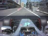 F1阿塞拜疆站一练结束 博塔斯驶进维修区急刹车