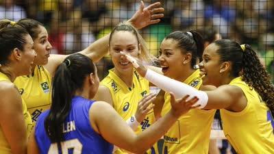 世界女排大奖赛总决赛 巴西3-2击败意大利夺冠