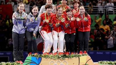 第17金!中国女乒3-0横扫德国 达成奥运三连冠