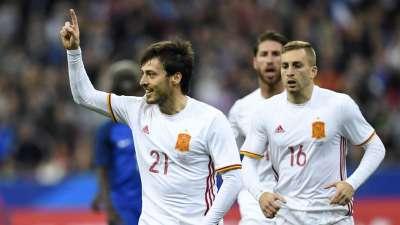 比赛报告-法国0-2西班牙 米兰大将建功席尔瓦点射