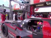 勒芒24小时耐力赛:奥迪r18赛车更换车门
