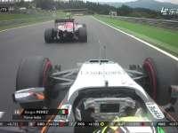 F1奥地利站正赛 佩雷兹全油门处险些碰撞