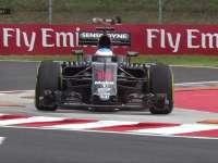 F1匈牙利站FP1 阿隆索刹车不及骑过路肩