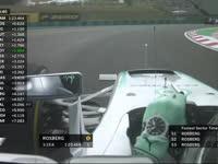 F1匈牙利站FP1:罗斯伯格申请换方向盘