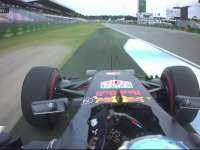 F1德国站FP1:里卡多驶上草地