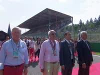 F1比利时站正赛 赛前奏国歌仪式