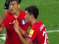 (粤语集锦)12强赛:韩国3-2中国