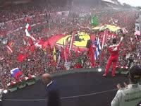 F1意大利站正赛颁奖仪式:享受全世界最棒的颁奖台