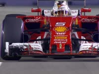 F1新加坡站FP2:维特尔走大冲入缓冲区