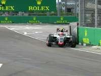 F1新加坡站FP3:古铁雷兹赛车颠起后险上墙