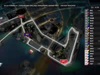 F1新加坡站排位赛(GPS追踪)全场回放