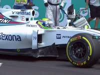 F1马来西亚站正赛:马萨暖胎圈遇油门踏板故障