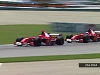 F1美国站经典(3)2004舒马赫死守巴里切罗