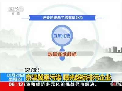 [视频]环保部:京津冀重污染 曝光超标排污企业