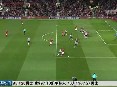 [视频]伊布复出 曼联主场4-1大胜纽卡斯尔联