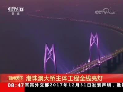 [视频]港珠澳大桥主体工程全线亮灯