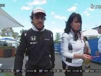 F1澳大利亚站正赛 阿隆索退赛后围场漫步
