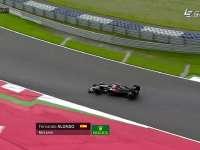 F1奥地利站FP2:阿隆索失误走大