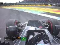 F1德国站正赛:阿隆索轮胎衰竭 锁死跑大