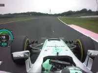 F1日本站排位赛罗斯伯格杆位圈 小汉仅差0.013秒