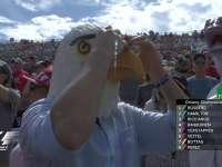 F1美国站正赛:现场观众扮起了白头鹰和独角兽