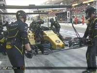 F1阿布扎比站正赛:马格努森发车遇事故进站更换鼻翼