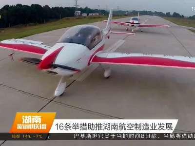 16条举措助推湖南航空制造业发展