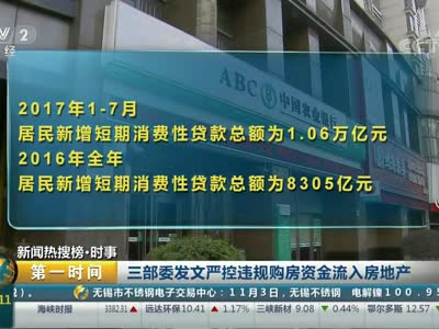 [视频]三部委发文严控违规购房资金流入房地产