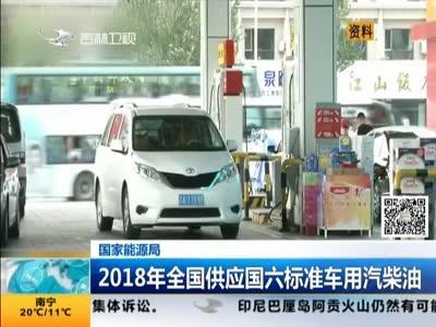[视频]国家能源局:2018年全国供应国六标准车用汽柴油