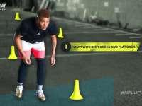 橄榄球身体训练课 防守后卫专属的横向移动训练