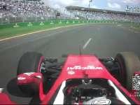 F1澳大利亚FP3 维特尔15弯打滑上草地