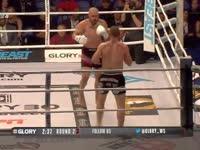 荣耀格斗Glory30第一场 凯西VS亚伯拉罕