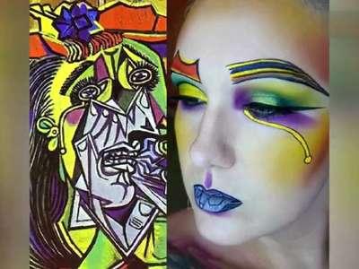 [视频]这才叫美人如画!艺术家画出名画彩妆太惊艳