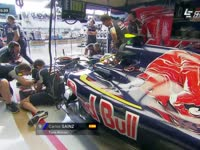F1奥地利站FP2:老塞恩斯现身维修区