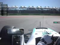 F1美国站FP2:汉密尔顿前胎出现抖动现象