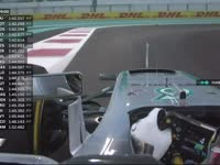 F1阿布扎比站FP2 汉密尔顿赛车平衡出现问题