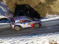 WRC蒙特卡洛站现代车队最佳航拍